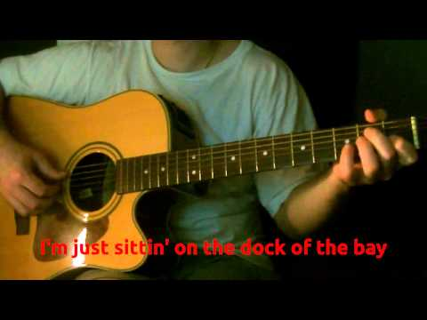 Otis Redding - Sitting of the Dock of the Bay [Guitar Karaoke Instrumental] Lyrics on Screen (HD)