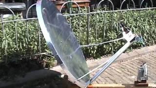 Solar Water Heater from junkyard satellite dish