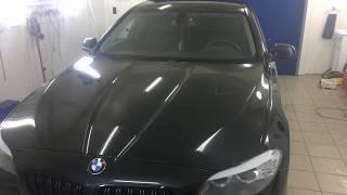 Снег на крышу BMW5 Ремонт без покраски 2