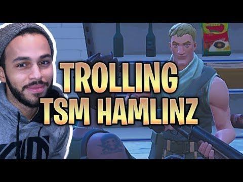 TROLLING TSM HAMLINZ LIL SUS WITH VOICE CHANGER! Fortnite Battle Royale