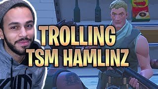 "TROLLING TSM HAMLINZ ""LIL SUS"" WITH VOICE CHANGER! Fortnite Battle Royale"
