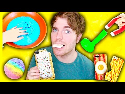 TRYING DUMB DIYS! – MAGNETIC SLIME, EDIBLE PHONE CASE, BATH BOMB