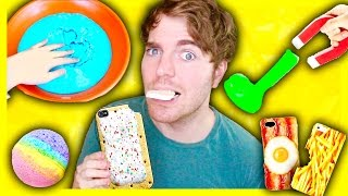 TRYING DUMB DIYS! - MAGNETIC SLIME, EDIBLE PHONE CASE, BATH BOMB