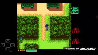 Playing Old game (Metal gear solid GBC)