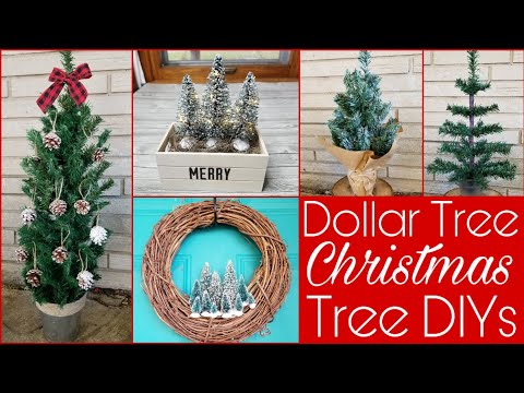 Five More Upgrades To Dollar Tree Christmas Trees