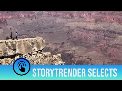 Woman Almost Falls Down Grand Canyon