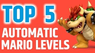 Super Mario Maker - Top 5 Best Levels Automatic Mario Gameplay