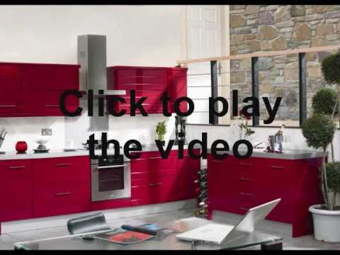 high gloss red kitchen doors wmv