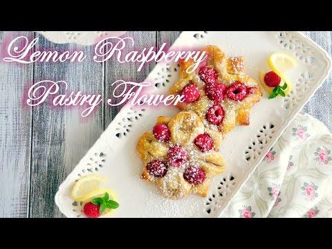 How to Make Lemon Raspberry Pastry Flower
