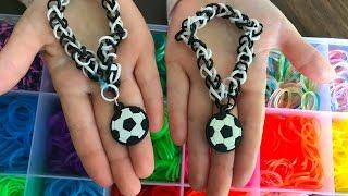 Как сделать браслет из резинок для брелка. Як зробити браслет з резинок для брелка.