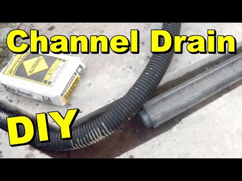 How To Install a Driveway Channel Drain - YouTube