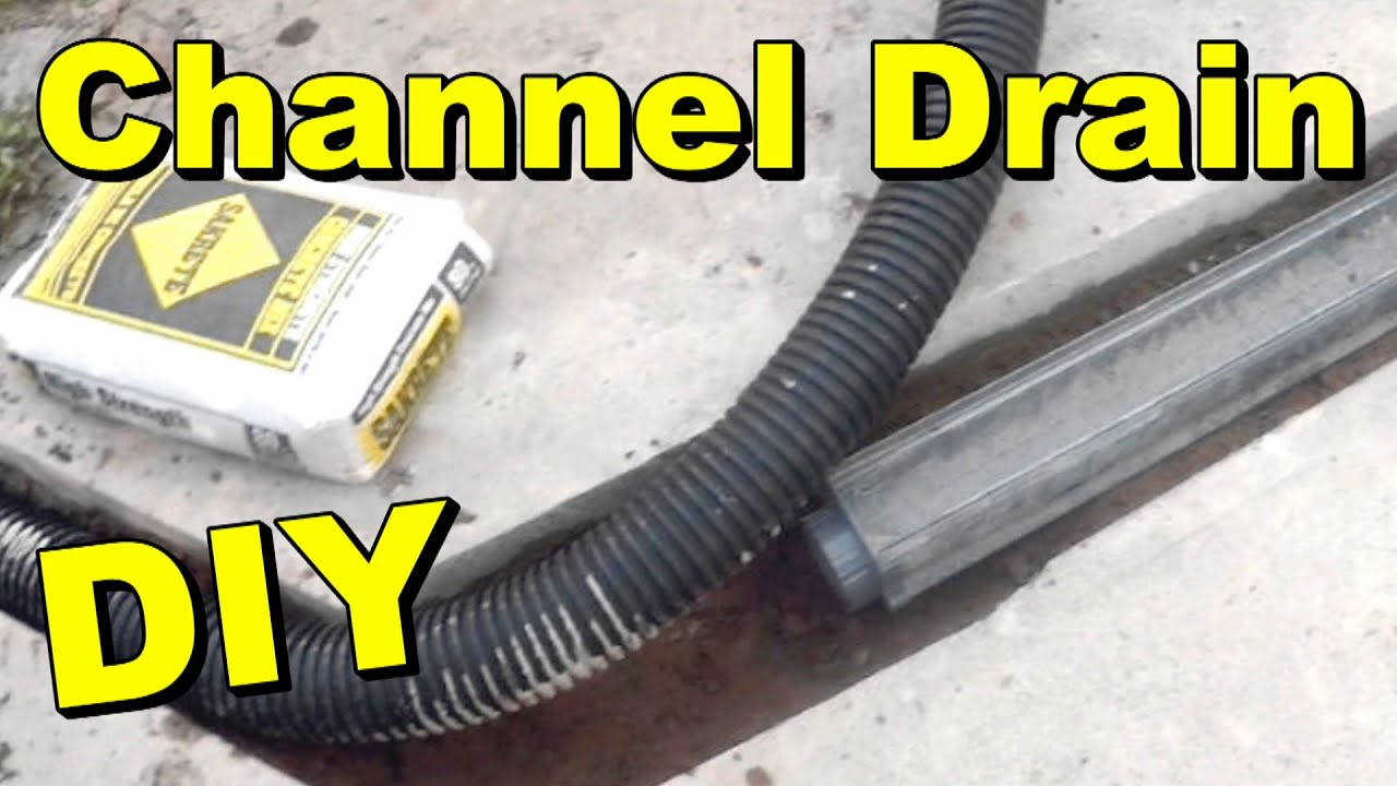 How to install a french drain youtube - How To Install A Driveway Channel Drain Youtube