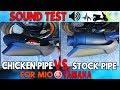 Apido Pipe VS. Stock Pipe   Yamaha Mio