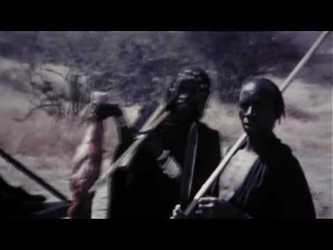 FREE FOOTAGE - Tribal Men With Fresh Kill HD