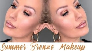 SIMPLE SUMMER BRONZE MAKEUP TUTORIAL + UPDATED BROW ROUTINE