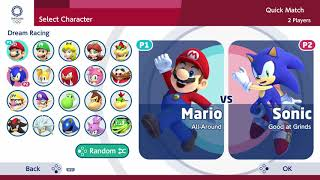 Mario and Sonic at the Olympic Games Tokyo 2020 Dream Racing, Karate, 4x100m Relay, Badminton, etc