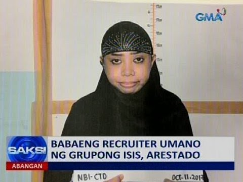 Babaeng recruiter umano ng grupong ISIS, arestado