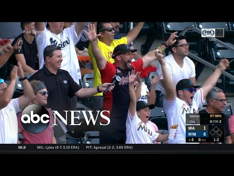 Father stops mid-interview to celebrate after son hits MLB home run