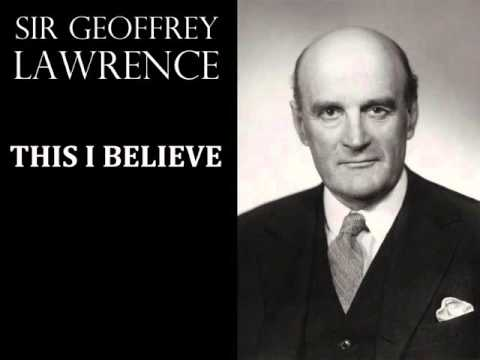 Geoffrey Lawrence, President of the Nuremberg Tribunal - 'This I Believe' - 1950s Radio Broadcast