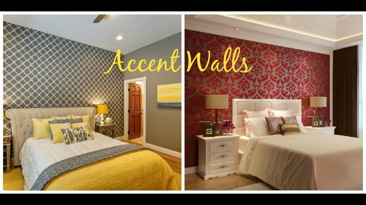 Bedroom Wallpaper Accent Walls Home Decor Ideas Youtube