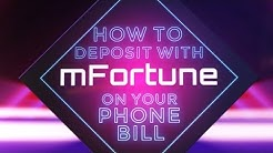 How To Deposit By Phone Bill At mFortune Casino
