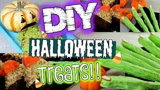 DIY HALLOWEEN TREATS | 3 Easy Halloween Treat Ideas!!