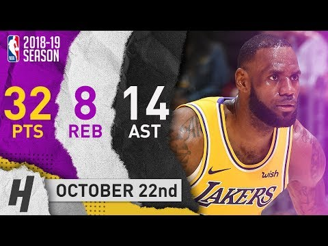 LeBron James EPIC Highlights Lakers vs Spurs 2018.10.22 - 32 Pts, 14 Ast, 8 Reb