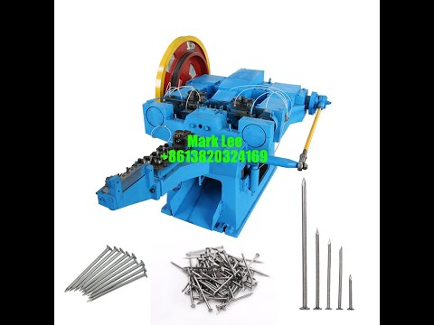 High Speed CNC Automatic Steel Wire Roofing Nail Making ...