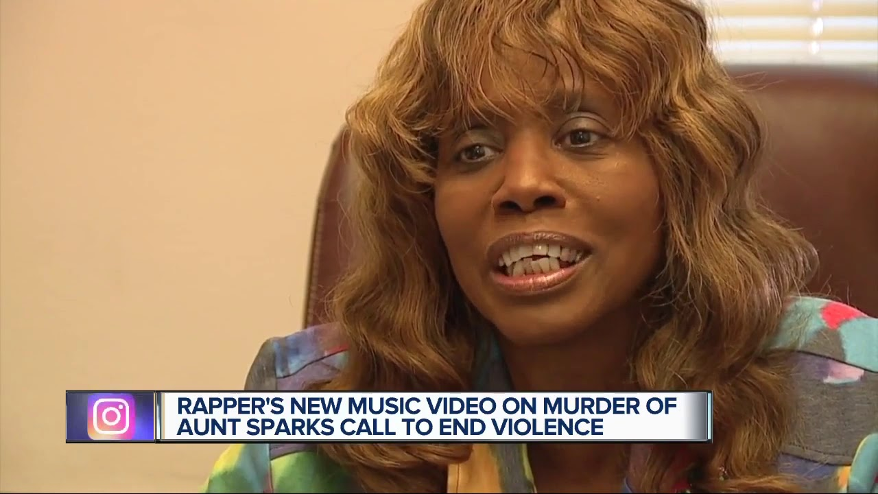 Rapper's new music video on murder of aunt sparks call to end violence