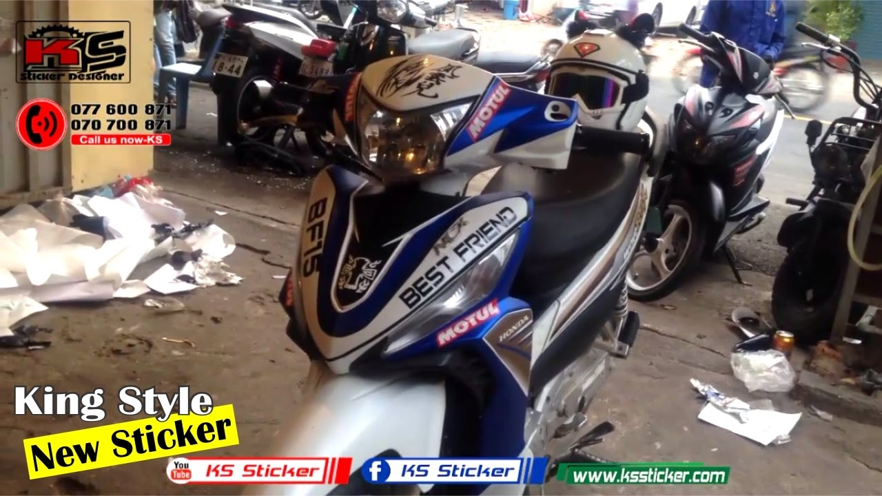 Sticker design for honda wave 100 - Wave Rsx 110 Honda Best Stamp Ks Sticker In Cambodia