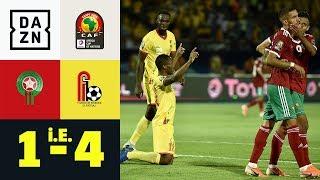 Hakim Ziyech vergibt vom Punkt! Sensation perfekt: Marokko - Benin 1:4 i.E. | Afrika Cup | DAZN