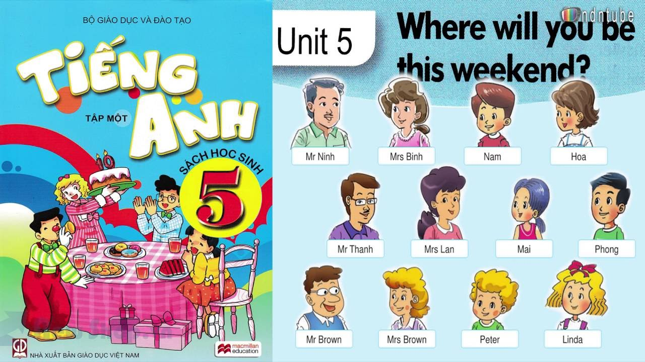 Tiếng Anh 5 Unit 5 WHERE WILL YOU BE THIS WEEKEND (WITH REVIEW)