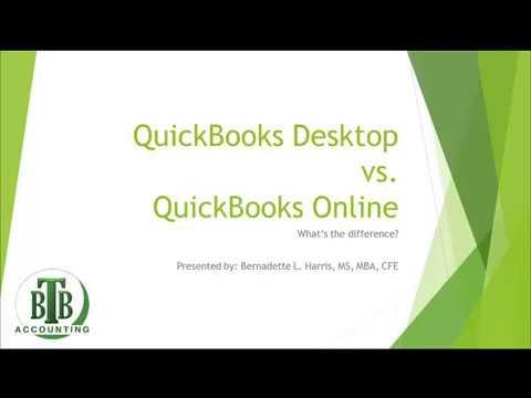QuickBooks Desktop vs. QuickBooks Online