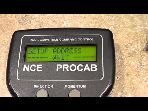NCE DCC PROGRAMING A ENGINE DECODER