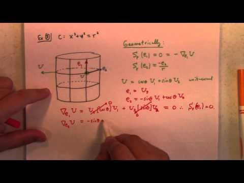Differential Geometry: Lecture 15 part 1: Shape Operator Defined