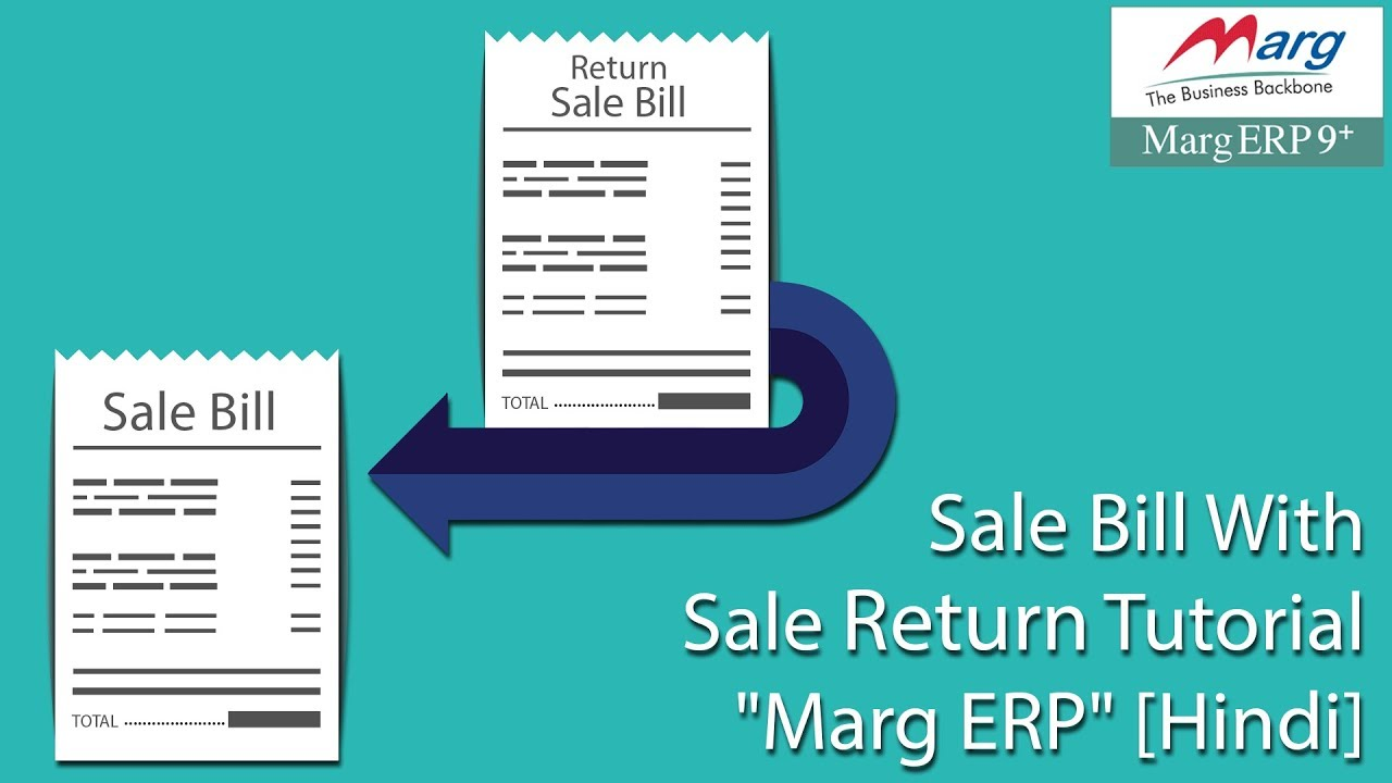 sale bill with sale return tutorial marg erp hindi youtube