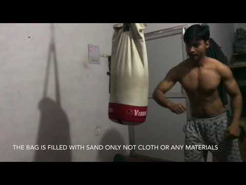 Home Workout Doing Boxing