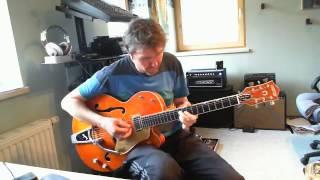 Brian Setzer - Sleepwalk Solo guitar, Gretsch SSLVO 6120 Brian Setzter,Tech 21 Blonde