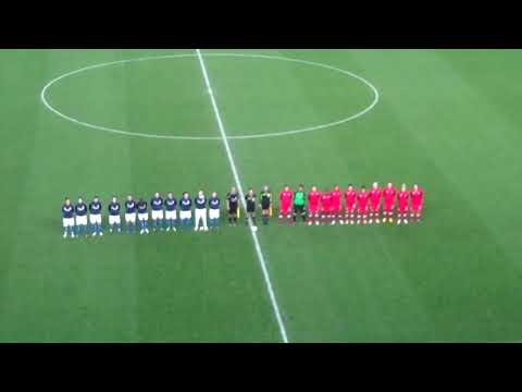 Canadian and Italian Women's National Soccer Teams Sing their National Anthems at 2012 Cyprus Cup