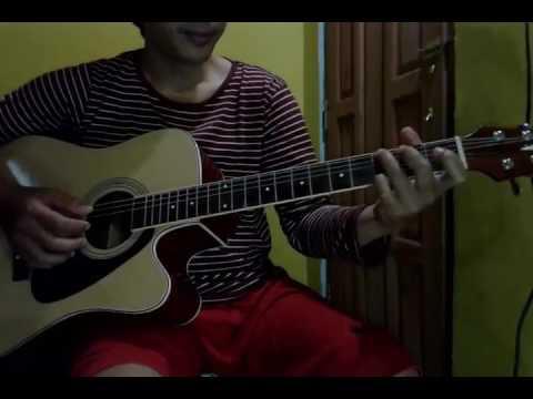 Belajar Intro petikkan gitar  lagu muara kasih bunda