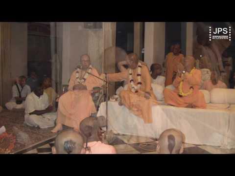 20110304 H.H.Jayapataka Swami gave a talk at the Annual Sankirtan Book Dist. Awards.