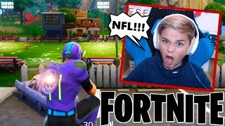 New NFL FORTNITE Skins and Football Challenge!