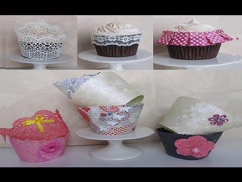 diy cupcake wrappers - copri pirottini fai da te tutorial ...