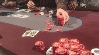 Revenge with Pocket Kings at Excalibur $1/$2 NLH   Poker Vlog #6