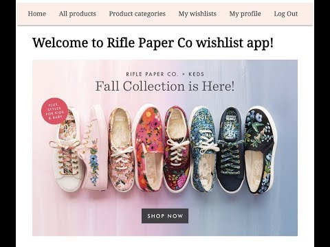 Rails portfolio project - RiflePaperCo wishlist app with jQuery frontend