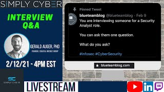 Cybersecurity Analyst Interview Questions / Answers