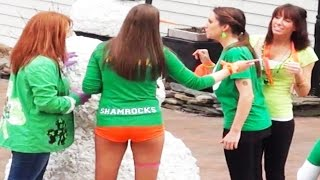 Prank Scaring Drunk People - St Patrick
