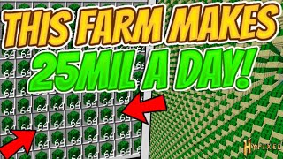 MASSIVE CACTUS FARM MAKES $25 MILLION PER DAY!! -- Hypixel Skyblock