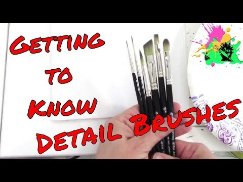 30 Days of Art #2 Color Getting to Know Detail Brushes - How to Use and Clean Your Brushes