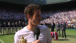 Andy Murray's Championship Winning Speech